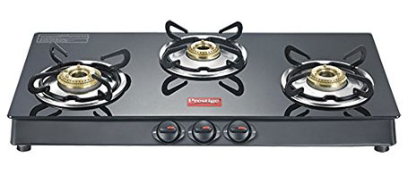Prestige Marvel Plus Aluminum 3 Burner Gas Stove