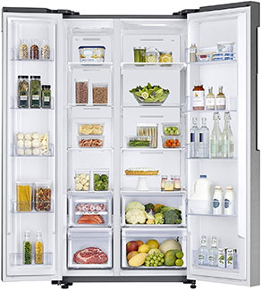 Samsung 674L Frost Free Side by Side Refrigerator RS62K60A7SL/TL