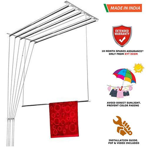 NR-I Stainless Steel Ceiling Clothes Hanger Roof Mount Cloth Dryer