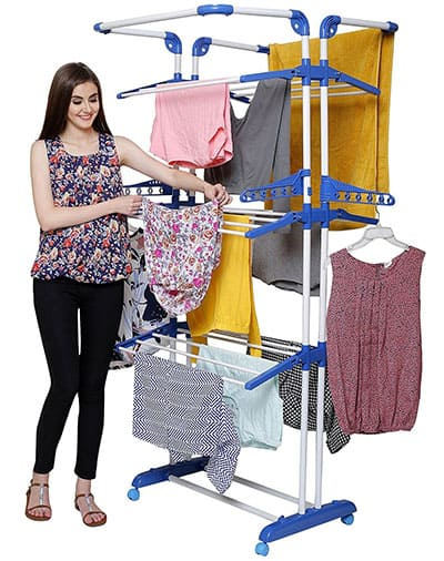Parasnath Prime Stainless Steel 3 Poll cloth hanger rack