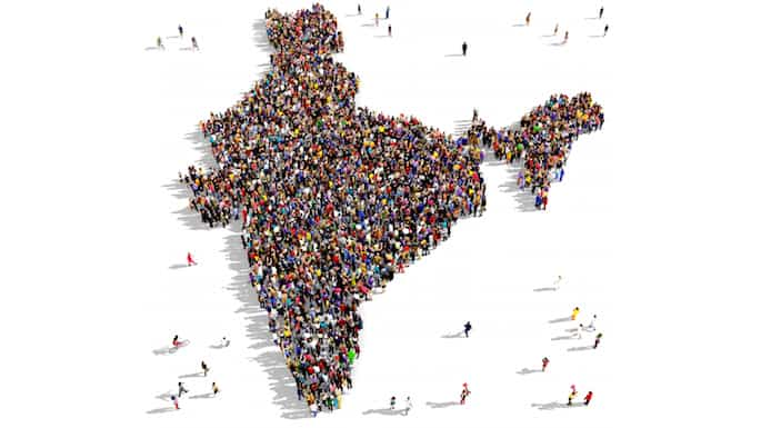 large population in India