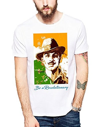 Creative Graphic Printed Polyester Bhagat Singh T-Shirt