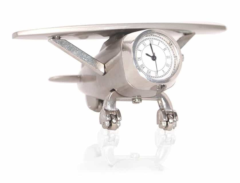 Decorative Miniature Airplane Table Clock