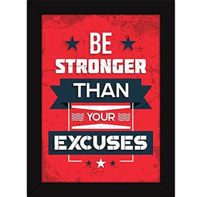 Motivational Quote Framed Poster