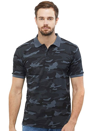 WYO Wear Your Opinion Men's Camouflage Polo T-shirt