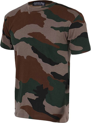 ZACHARIAS Army Camouflage Men's Round Neck Half Sleeve T-Shirt