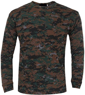 ZACHARIAS Military Camouflage Men Round Neck Full Sleeve T-Shirt