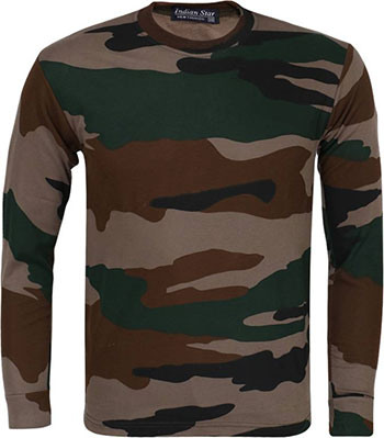 ZACHARIAS Military Camouflage Men's Full Sleeve T-Shirt