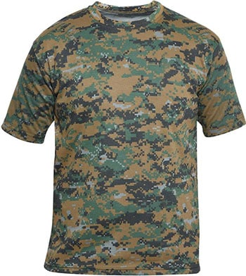 ZACHARIAS Military Camouflage Men's Round Neck Half Sleeve T-Shirt