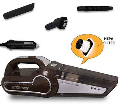 AllExtreme AE-Q8801A Portable Handheld Car Vacuum Cleaner