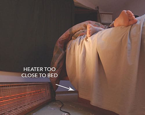 Keep Inflammable Things Away from Heater