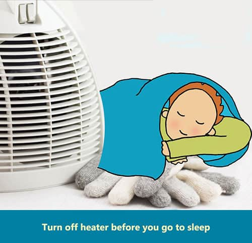 Turn off Heater Before Sleep