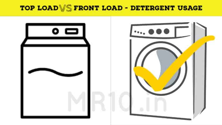 detergent usage difference between top loader and front loader washing machine
