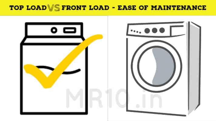 Maintenance difference of front loading and top loading