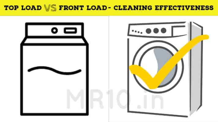 Cleaning of top vs front loading washing machine
