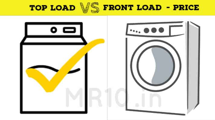 price of front load washing machine vs top load