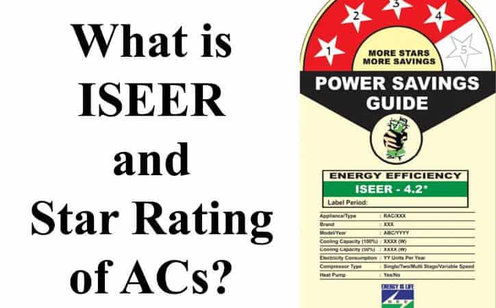 What is ISEER and Star Rating of ACs?