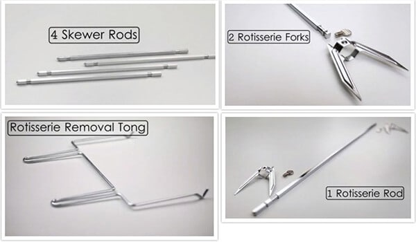 Rotisserie Set and Skewer Rods